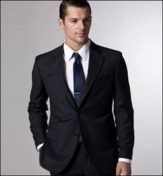 black suit, navy tie | i do i do i do | Pinterest | Black suits ...