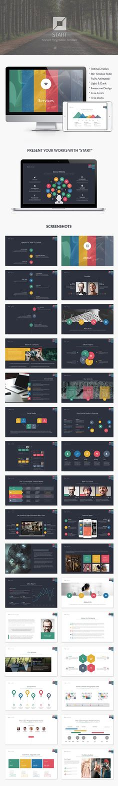 Start | Business Keynote Template #design #slides Download: http://graphicriver.net/item/start-business-keynote-template/12756280?ref=ksioks