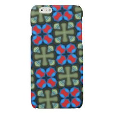 colorful trendy green blue red pattern