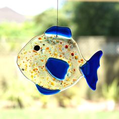 Fused Glass Sun Catcher - Fish