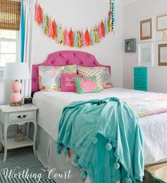 A Vibrant Teenage Girl's Bedroom + A Giveaway!