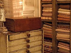 love the drawers and all the fabric!