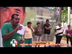 CANDIDATO DEL PRI, AL GOBIERNO DE ATOYAC, DÁMASO PÉREZ, DICE: