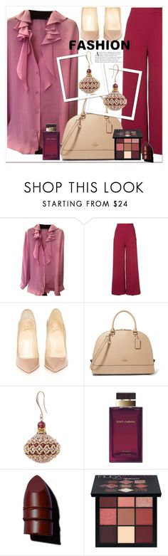 """""""GIRL POWER:Power Look"""" by allanaaa11 ❤ liked on Polyvore featuring Gucci, Roland Mouret, Christian Louboutin, Dolce&Gabbana, Anastasia Beverly Hills and Huda Beauty"""