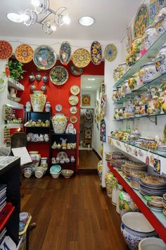 All the beautiful plates and other items are made on site, and the prices were better than the neighboring shops i checked out. Florence Shopping, Shopping In Italy, Italy Vacation, Italy Travel, Italy Trip, Travel Europe, Sicily Italy, Tuscany Italy, Firenze Italy