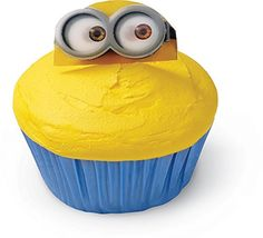 Wilton 2113-4600 Despicable Me Minions Fun Pix Cupcake Toppers, Yellow