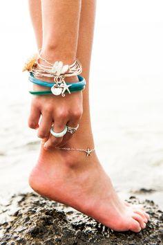 : [ki•ele] manini starfish anklet + assorted bangles. www.ki-ele.com