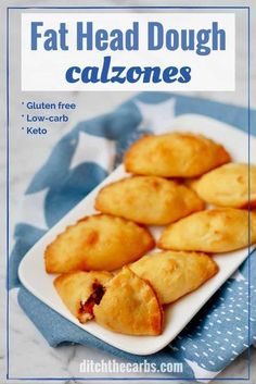 Incredible keto Fat Head dough calzones that are healthy and gluten free. Perfect for low-carb healthy lunch boxes . #lchf #keto #fathead #glutenfree #banting #lowcarb | ditchthecarbs.com via @ditchthecarbs