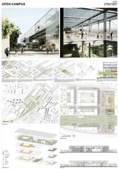 Open campus by erik giudice architects. images courtesy of aarhus school of architecture. Conceptual Model Architecture, Architecture Panel, School Architecture, Landscape Architecture, Architecture Design, Library Architecture, Aarhus, Architecture Presentation Board, Presentation Layout