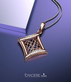 This geometric pendant with a gold lacework at the heart is a great daily wear. The irregular lacework complements the alternate diamond edges as well as the other smooth edges. Platinum Jewelry, Diamond Jewelry, Gold Jewelry, Jewlery, Pendant Set, Gold Pendant, Diamond Pendant, Indian Wedding Jewelry, Indian Jewelry