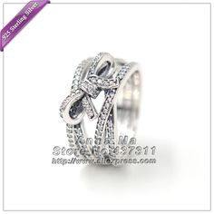 2016 NEW S925 Sterling Silver Ring Delicate Sentiments Ring with Clear CZ Ring R070