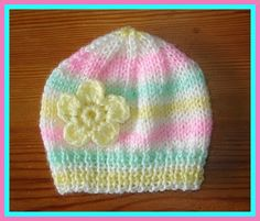marianna's lazy daisy days: Candystripe Knitted Baby Hats - pattern for premature babies too.