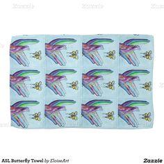 ASL Butterfly Towel