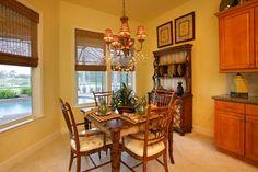 Breakfast nook in the River Glen Model by Daniel Wayne Homes, custom home builder in Fort Myers, Florida