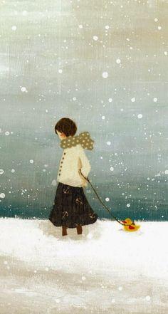 "the-grace-of-roses: "" belindag: "" 'Nostalgie' | Tashika Yui (via Pin by Jill Marie Greenhill on Fanciful Art | Pinterest) "" Desiderio di neve """