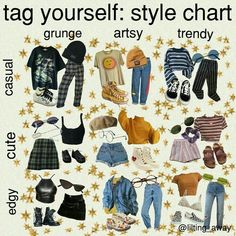 Edgy artsy and casual grunge Retro Outfits, Vintage Outfits, Mode Outfits, Grunge Outfits, Trendy Outfits, Artsy Outfits, Art Hoe Aesthetic, Aesthetic Memes, Aesthetic Fashion