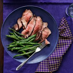Coffee-Rubbed Tri-tip with Gremolata Green Beans.