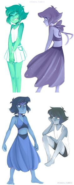 Lapis + colors of the sea! - Ikimaru                                                                                                                                                                                 More