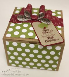 Holiday Gift Box  Confessions of a Stamping Addict Lorri Heiling