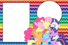 My Little Pony Strong Colors - Full Kit with frames for invitations, labels for snacks, souvenirs and pictures! | Making Our Party