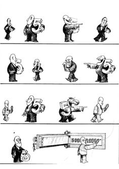Quino - Gente en su sitio (People in their Place, H Comic, Comic Art, Satire, Everything And Nothing, Humor Grafico, Funny Art, Comic Strips, Caricature, Illustrators