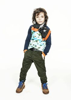 Molo winter 2013 | great airplane shirt #favorite collection and beautiful green cargo pant.