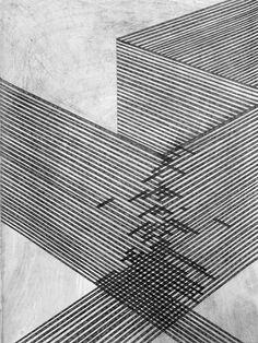 Danny Jauregui USA) - Ruins number one through six / Sacred Geometry Op Art, Grafik Design, Art Plastique, Geometric Art, Oeuvre D'art, Line Drawing, Drawing Ideas, Textures Patterns, Line Patterns