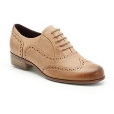 1229b7b97fd Womens Casual Shoes - Hamble Oak in Caramel Leather from Clarks Shoes  Heeled Brogues, Brown