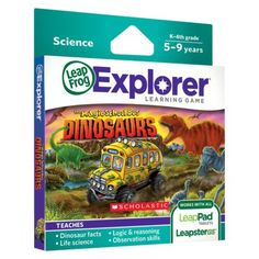 LeapFrog® Explorer™ Learning Game - Scholastic The Magic School Bus Dinosaurs - For I.E.S.