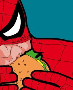 The secret life of heroes - Spiderfood Art Print