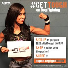Get tough on dog fighting - What you can do - ASPCA poster