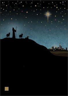 Shepherd - christmas card design by Jane Crowther, Bug Art Merry Christmas Card, Christmas Scenes, Christmas Nativity, Noel Christmas, Christmas Pictures, Winter Christmas, Vintage Christmas, Xmas, Bug Art