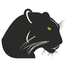 Panther with angry green eyes Free Vector