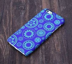 Blue and Green Circle Floral Pattern iPhone 6 Plus/6/5S/5C/5/4S/4 Protective Case – Acyc