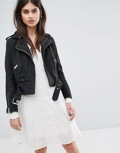 AllSaints Willow Biker Jacket - Black