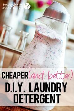 50 Ideas for diy cleaning products laundry detergent baking soda
