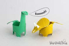Raid your recycle bin for a day of crafty fun! This toilet paper roll dinosaurs project will help you transform trash into toys for prehistoric playtime.