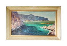 Mid Century Large Italian Oil Painting c1950