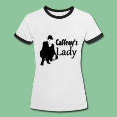 """White Collar Shirts and Gifts - """"Caffrey's Lady! - Beautiful design on more than 20 high quality products for all true """"White Collar"""" and Neal Caffrey fans. Be one classy woman - be Caffrey's Lady! Wonderful gift for all Matt Bomer fans. #whitecollar #collars #mattbomer #nealcaffrey #merchandise #tees #shirts #gifts #fan"""