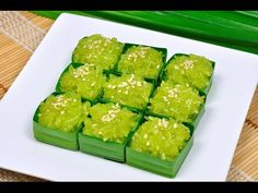 Sweet Shiny Coconut Sticky Rice (Thai Dessert) - Khao Niew Kaew ข้าวเหนียวแก้ว - YouTube