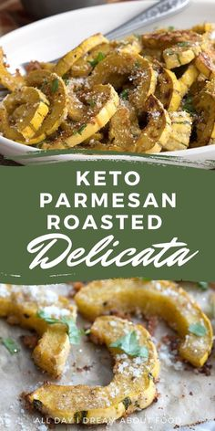 This roasted delicata squash with Parmesan and sage is an easy keto side dish and perfect for the holidays. Simple to make and full of great flavor. Low Carb Side Dishes, Veggie Side Dishes, Healthy Side Dishes, Side Dishes Easy, Side Dish Recipes, Vegetable Sides, Best Low Carb Recipes, Keto Crockpot Recipes, Ketogenic Recipes