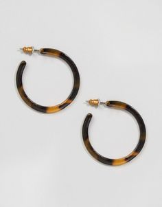 ASOS | ASOS Tortoise Hoop Earrings