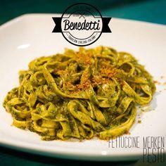 Fettuccine merken - salsa pesto