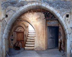 Imerovigli by Stella Petropoulou - Greek Artist Stair Steps, Online Gallery, Santorini, Greek, Stairs, Architecture, Artist, Arquitetura, Stairway