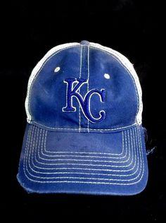 KC New Era Hat Distressed Strapback Kansas City Cap #NewEra #BaseballCap #Strapback #KC #Distressed