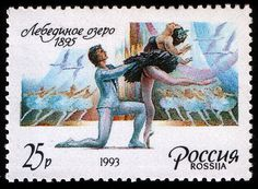 Principe Siegfried e Odette, selo russo de 1993.