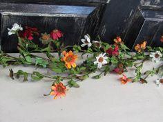 Summer Daisy Floral Garland   Thanksgiving by Designawreath, $22.95