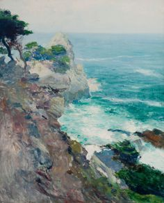 """Out to Sea, Point Lobos,"" Guy Rose, oil on canvas, 29-1/2 x 24"", private collection."