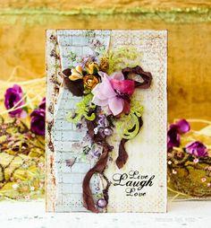 """Блог Scrapberry's. Бумага из коллекции """"французское путешествие"""", цветы, веточка,  акриловые завитки - все Scrapberry's."""