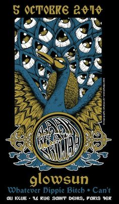 Sometimes I feel that we need less peacocks in #gigposters but when I see neat stuff like this one by Johan Jaccob, I know that I'm wrong.